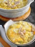 白菜と豚肉の中華風卵とじ