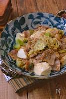 *豚バラキャベツと豆腐の旨味噌炒め*