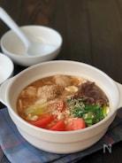 『美ボディ鍋』*えのき鶏団子とビタミン野菜の卵白とろーり鍋
