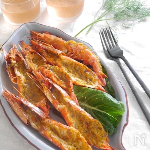 海老のディルマヨネーズ焼き