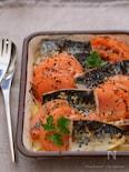 塩サバとトマトのガーリックオイルグリル