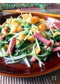 『☆ふわふわ卵と水菜とベーコンの中華炒め』