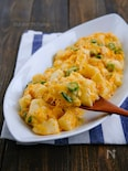 たたき長芋とオクラの卵チーズマヨ炒め