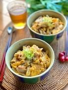 中華風*豚バラと玉ねぎの卵とじ丼