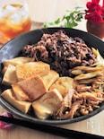 焼きネギが香ばしい。フライパンで作る肉豆腐