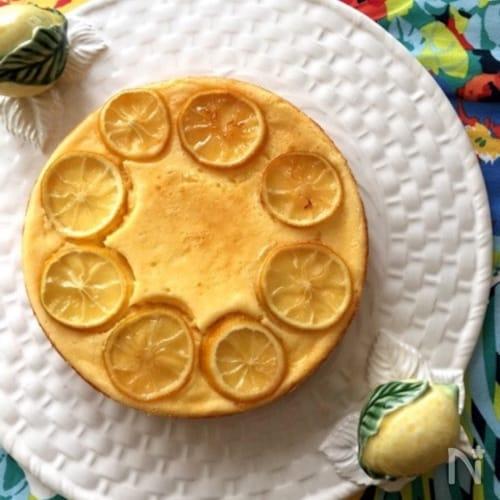 混ぜるだけ簡単!しっとり超美味♡レモンチーズケーキ