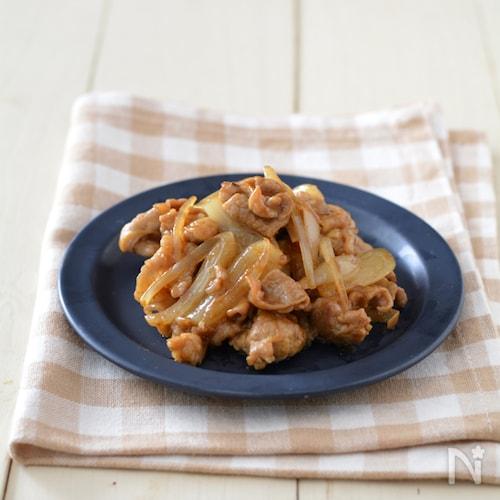 豚肉の甘辛らっきょうカレー炒め