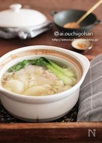 『鶏肉と大根のしょうがたっぷり参鶏湯風スープ♡』