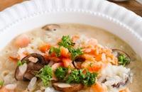 ダイエット中にもオススメ『鮭と玉ねぎのオーツミルクリゾット』