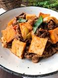 ご飯のおかず☆牛肉と厚揚げのオイ・ケチャ中華炒め