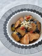 しびれる♡鶏肉と揚げナスの酢山椒びたし