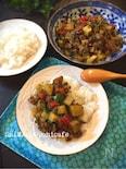 ジャガイモとひき肉のサブジ丼