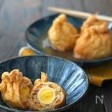 *大豆入りうずら鶏ひき巾着煮*作り置きに◎めんつゆで簡単!