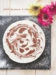 チョコ不使用。マーブル豆乳レアチーズケーキ