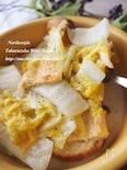 白菜と揚げのクリーム煮バゲット添え