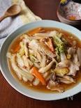 白菜と豚肉の中華あんかけ