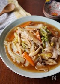 『白菜と豚肉の中華あんかけ』