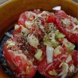 ちぎりトマトのネギ塩サラダ