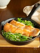 鮭と豆苗のちゃんちゃん焼き風