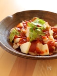 まぐろとりんごの韓国風カルパッチョ