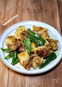 『チキンのガーリック麺つゆ炒め』