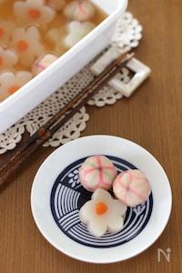 花こんにゃくと手毬麩の含め煮