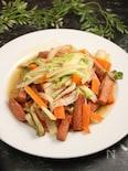 スパムの野菜炒め レモンブラックペッパー風味