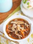 スープジャーでほっとけレシピ『豚肉と春雨のさっぱりスープ』