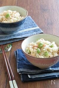 お弁当に♪鮭と枝豆の炊き込みごはん