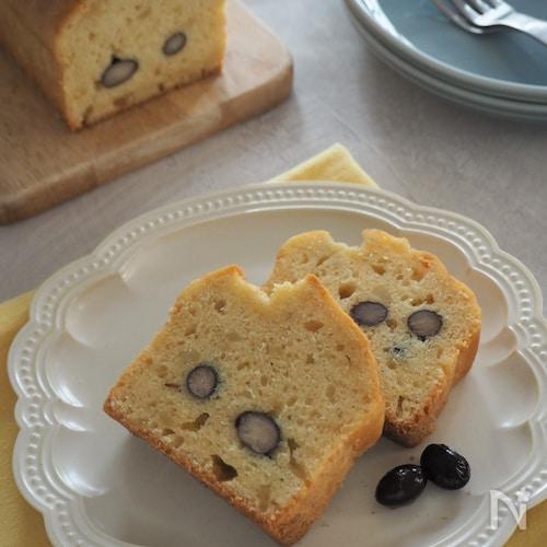 【おせちリメイク】栗きんとんと黒豆のパウンドケーキ