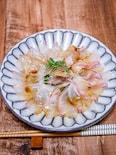 さっぱりと食べる「鯛の和風カルパッチョ」