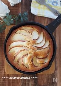 『はかり不要。混ぜて焼くだけ。スキレットりんごケーキ』