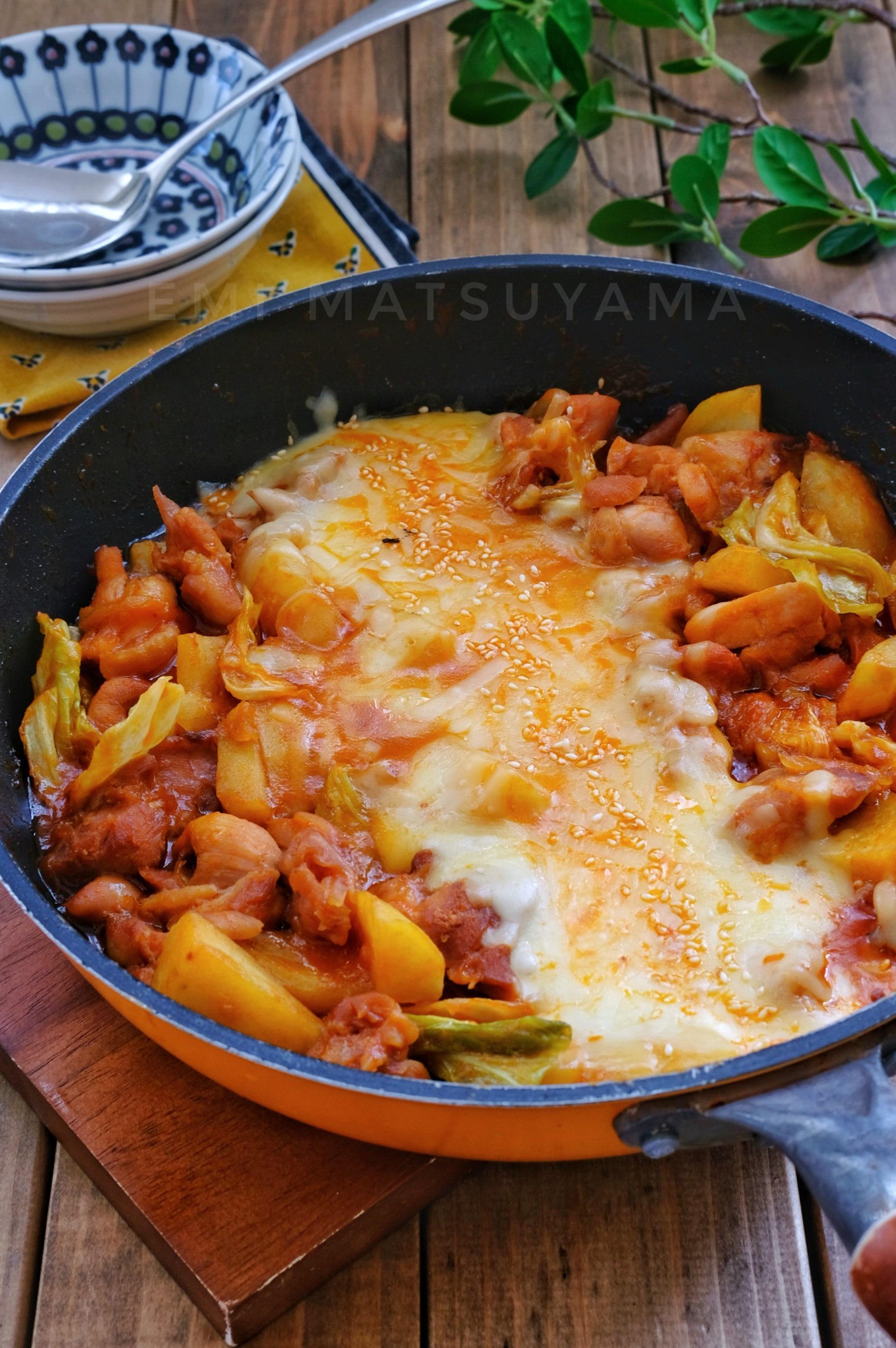 タッカルビ レシピ 人気 チーズ
