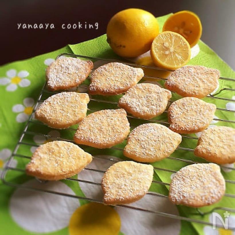 レモンの形のクッキー