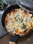 鶏肉とキムチのチーズ焼き