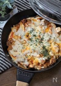『鶏肉とキムチのチーズ焼き』