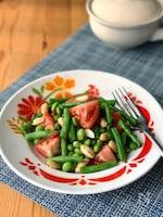 インゲンと枝豆のソムタム