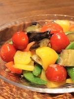 カラフル野菜のガーリックオイル蒸し