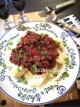 ひき肉の赤ワイントマト煮