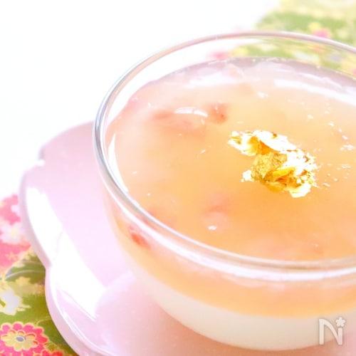 [春スイーツ]ぷるぷる桜の2色ゼリーの作り方