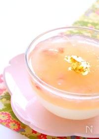 『[春スイーツ]ぷるぷる桜の2色ゼリーの作り方』