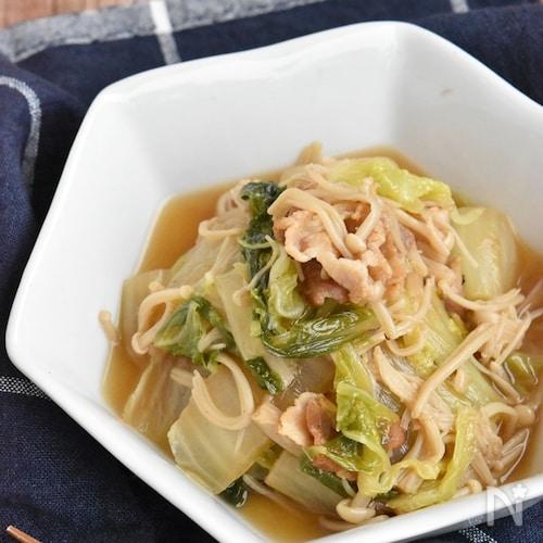 豚バラ白菜とえのきのうま煮【冷凍・作り置き】