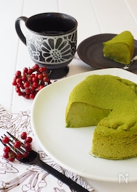 『瞬溶け!生スフレ抹茶チーズケーキ』
