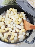 ホワイトアスパラガスとベーコンの炊き込みご飯