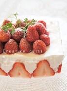 親子で楽しむ♪マシュマロレモン苺ケーキ