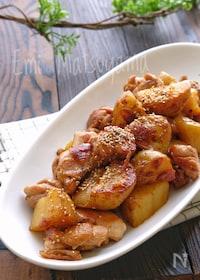 『【らくレピ】新じゃがと鶏肉のスタミナ甘辛さっぱり炒め』