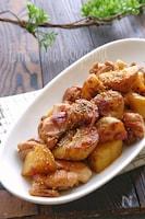 【らくレピ】新じゃがと鶏肉のスタミナ甘辛さっぱり炒め
