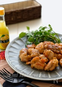 『*鶏肉のレモスコ甘酢照り焼き*おつまみに◎お弁当に◎』