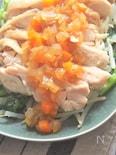 調味料1つで簡単に作れる「レンジで蒸し鶏」