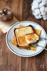 簡単!バスクチーズケーキ風トースト